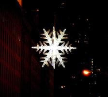 flocon de neige en cristal photo