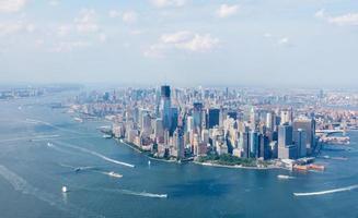 vue du ciel de la ville de new york photo