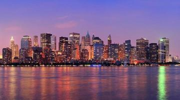 new york city manhattan crépuscule panorama photo
