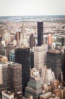 vue aérienne du centre-ville de manhattan new york city photo