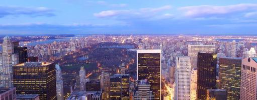panorama de vue aérienne de central park photo