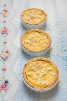 tartes au citron et aux amandes