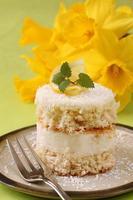 gâteau à la crème de noix de coco et citron photo