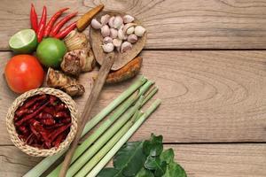 ingrédients alimentaires de la Thaïlande.