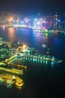 paysage nocturne de Hong Kong photo