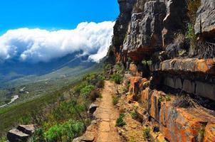 sentier de randonnée de montagne de la table photo