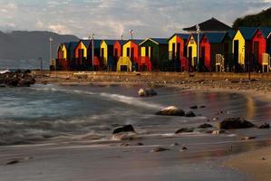 couleur de la cabine de plage photo