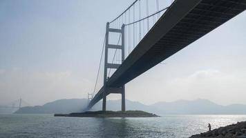 hong kong tsing ma bridge photo