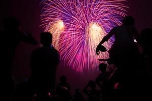 feux d'artifice à Hanoi photo
