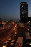 tel aviv city la nuit. photo