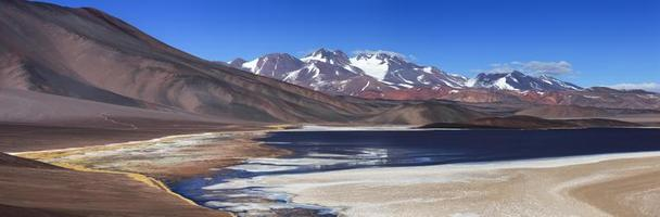 lagon noir, volcan pissis, catamarca, argentine photo