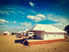 camp de tentes de luxe, Inde photo
