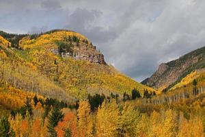 montagnes de la région de denver à l'automne photo