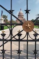 Texas capitol motifs gate