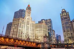 vue sur le centre-ville de chicago photo