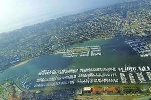 vue aérienne du point loma, san diego