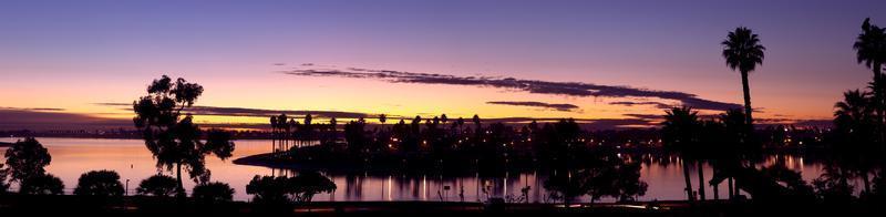 mission bay san diego, californie usa, crépuscule coucher de soleil