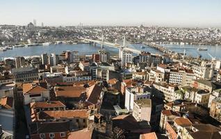 vue de la ville. panorama d'Istanbul. photo