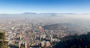 cerro blanco view, santiago, chili photo