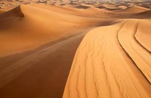 désert de sable rouge photo