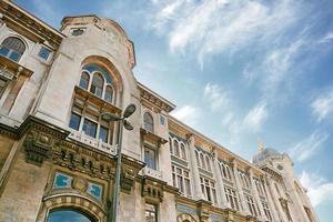 Détail du grand bureau de poste, Istanbul, Turquie photo