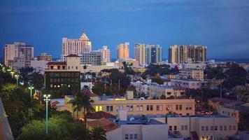crépuscule de Miami South Beach photo