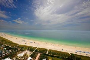 photo aérienne de la plage de miami