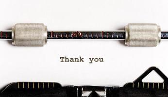 texte de machine à écrire photo