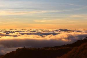 coucher de soleil doré photo