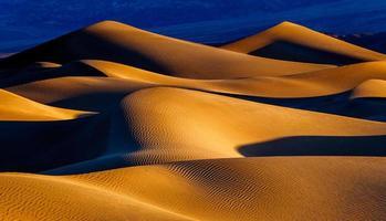 dunes de sable au lever du soleil photo