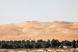 dunes dans le désert du quartier vide photo