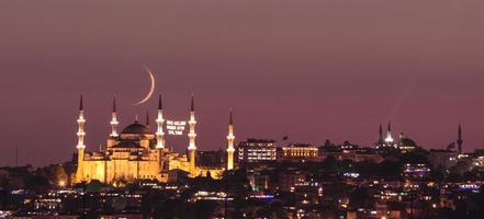mosquée bleue au ramadan photo