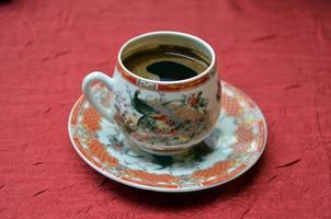 café turc dans un pot chinois