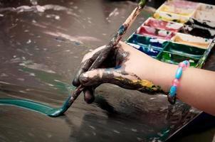 peinture enfant photo