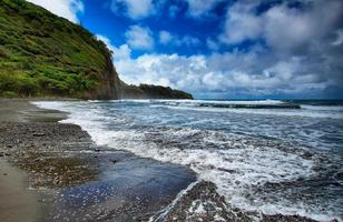 vue sur la vallée de pololu à hawaii photo