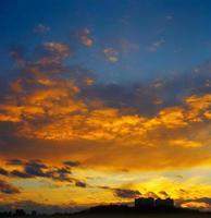 le coucher du soleil. photo