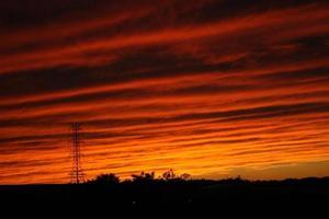 coucher de soleil sur l'autoroute photo