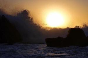 éclaboussure de coucher de soleil