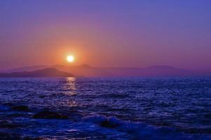 coucher de soleil crétois photo