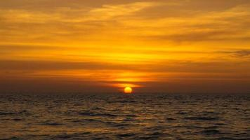 coucher de soleil d'Andaman.