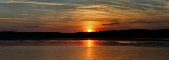panorama du coucher du soleil photo