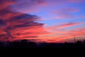 coucher de soleil - nuages photo