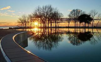 paradis coucher de soleil photo