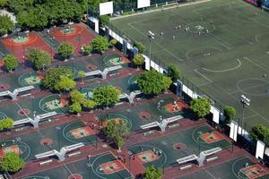 vue sur le quartier central des affaires de la ville de guangzhou photo