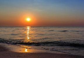 coucher de soleil paysage marin