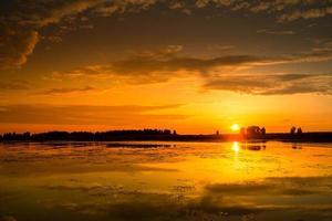 coucher de soleil incroyable photo