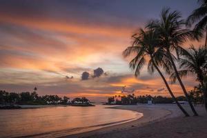 coucher de soleil sentosa photo