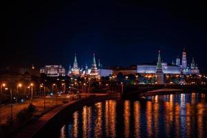 Moscou de nuit photo