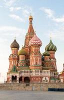 La cathédrale Saint-Basile à Moscou, Russie photo