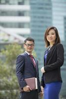 portrait de partenaires commerciaux asiatiques. photo